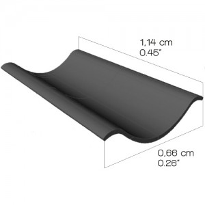 Double Hollow roof tile (1:35 scale)