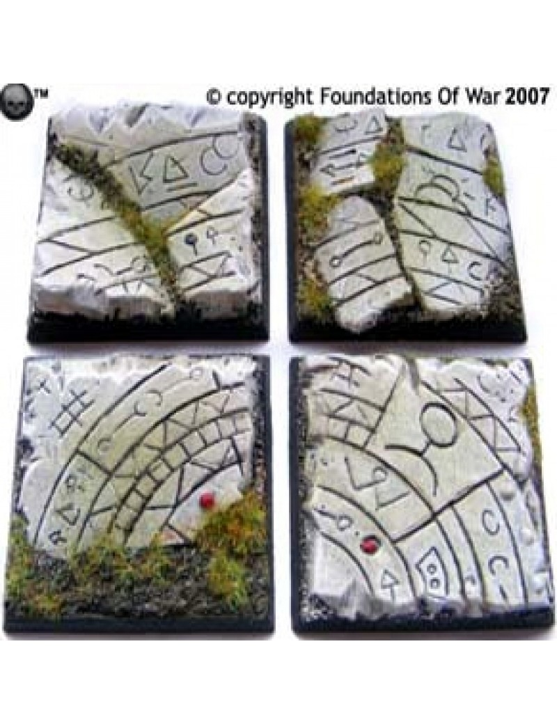 40mm Square Temple Bases