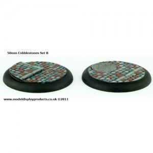 50mm Round Lipped Cobblestone Bases