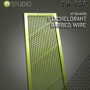Brass Etch Barbed Wire