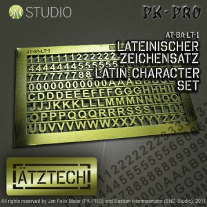 Brass Etch Character Set