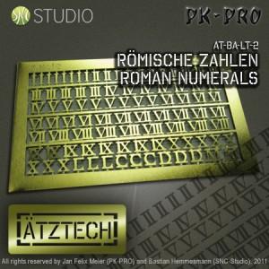 Brass Etch Roman Numerals
