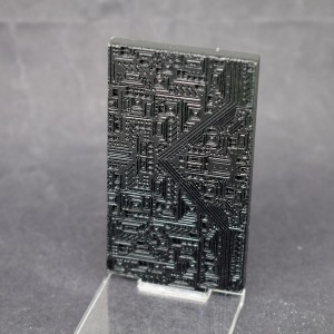 Fusion: Black Circuit Laser Etch Wall