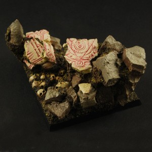 Cavern Ruins 50mm Square Base