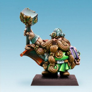Dwarf Rune Priest with Hammer