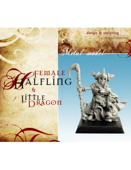Female Halfling with Dragon