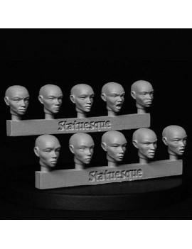 Fine Scale Female Bald Heads