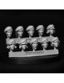 Heroic Scale Female Beret Heads