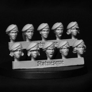 Heroic Scale Female Beret Heads
