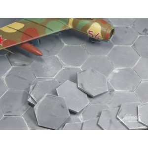 Grey Airfield Hexa Plates  (1:72 scale)