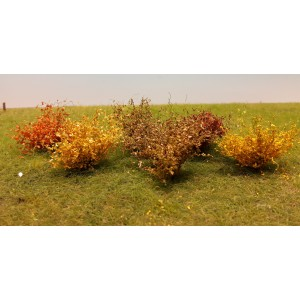 Late Fall Bushes HO Scale
