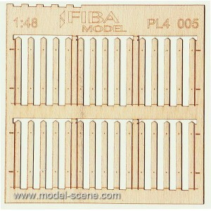Medium Plank Picket Fence 1:48