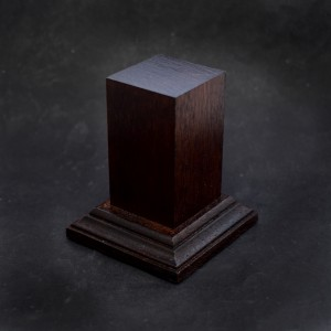 30mm Tall Dark Brown Square Hardwood Plinth
