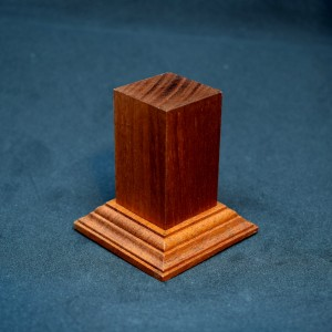 30mm Tall Medium Brown Square Hardwood Plinth