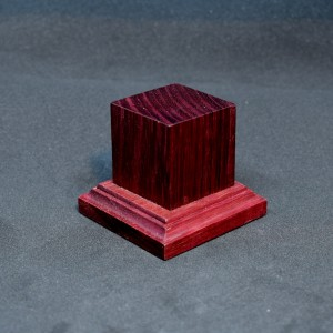 33mm Square Short Red Stained Wood Plinth
