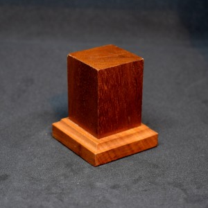 33mm Square Wood Plinth (Medium Brown)