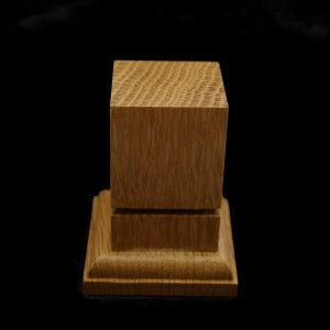 34mm Square Grooved Hardwood Plinth (light)
