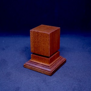 34mm Square Grooved Hardwood Plinth (Medium Brown)