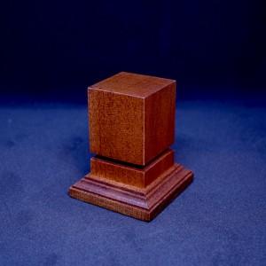 34mm Square Grooved Hardwood Plinth (Medium Brown)