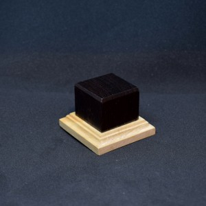 34mm Square Short 2 Tone Wood Plinth