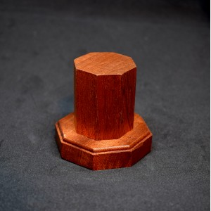 37mm Wooden Hexagon Plinth with Step Base