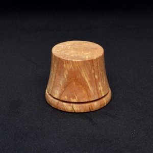 38mm Round Wood Plinth with Bottom Groove