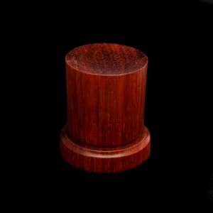 38mm Round Wood Plinth with Base