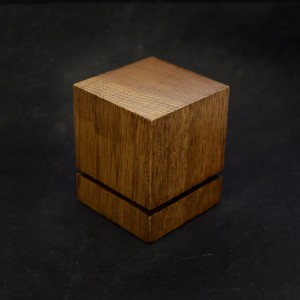 43mm Grooved Wood Cube Plinth