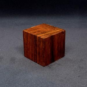 46mm Dark Wooden Cube