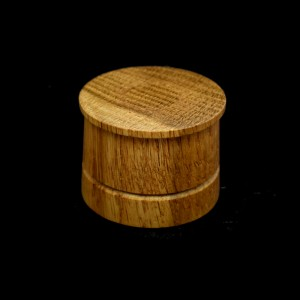 46mm Round Wood Plinth with top flange and groove