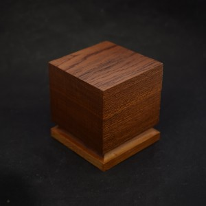 50mm Square Wooden Plinth with Base Chamfer