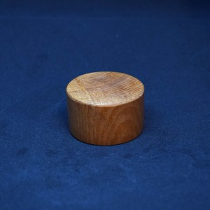 48mm Round Short Medium Brown Wood Plinth