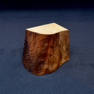 55mm Quarter Cube with Stripped Bark Face