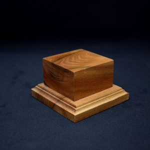 55mm Square Wood Plinth with Bottom Bead
