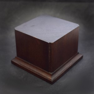 57mm Square Wood Plinth with Corner Detail
