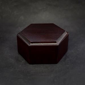 60mm Wooden Hexagon Plinth