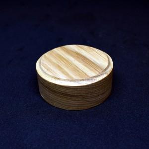 60mm Round Light Wood Plinth