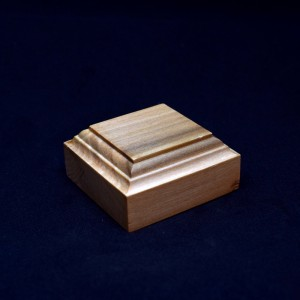 60mm Square Wooden Plinth with Coved edge