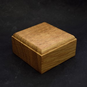 60mm Square Wooden Plinth with top chamfer