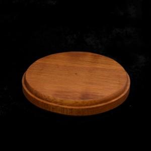 70mm Round Wooden Disc Plinth