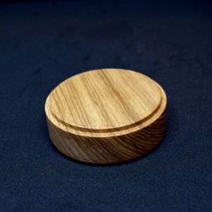 70mm Round Light Wood Plinth
