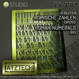 Brass Etch Large Roman Numerals