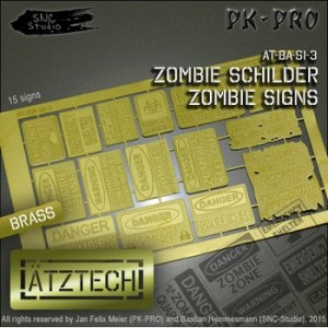 Brass Etch Zombie Warning Signs