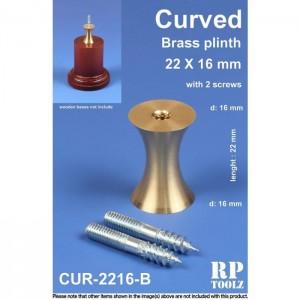 22mm Curved Brass Plinth Pin