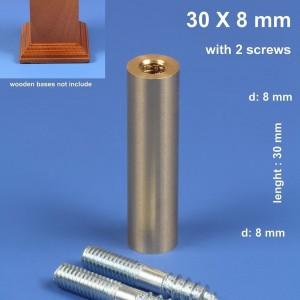 30mmx 8mm Straight Brass Plinth Pin