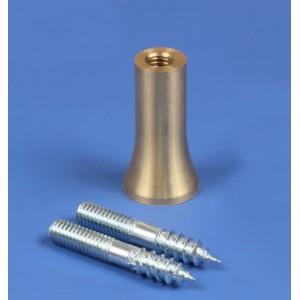 22mm Simple Brass Plinth Pin