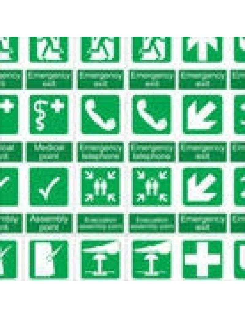 Emergency Station Signs Decals