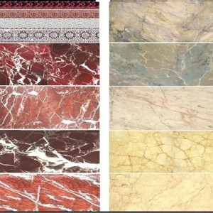 Red and Beige Marble Decals