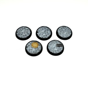 30mm Round Lipped Cobbled Bases